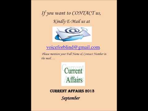 Current Affairs September 2013