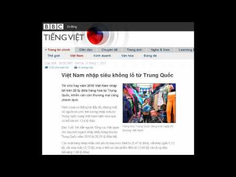 31-01-2011 - BBC Vietnamese - Việt Nam nhập siêu khổng lồ từ Trung Quốc