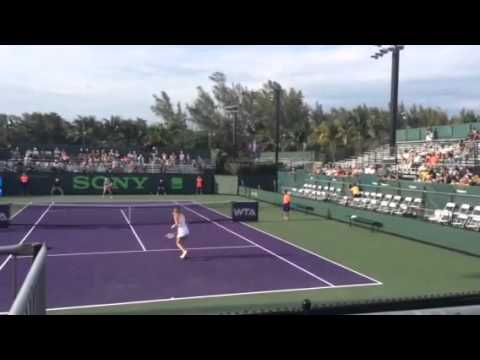 Agnieszka Radwanska vs Svitolina 2nd set at 2 1