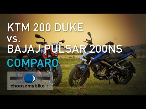 KTM 200 Duke Vs Bajaj Pulsar 200 NS : ChooseMyBike.in Review