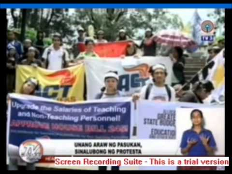 TV PATROL NORTHERN LUZON: ACT BAGUIO RALLY FOR SALARY INCREASE
