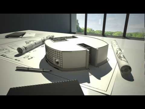 Technical eco friendly house 3D animation