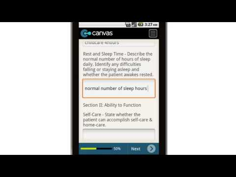 Canvas Psychiatric Activity History and Assessment Mobile App