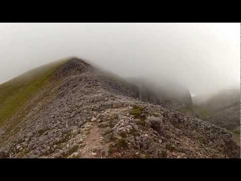 Beinn Eighe - View down Stone Chute and panning views