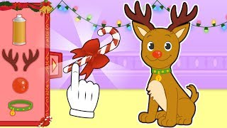 BABY PETS 🦌 Max Dresses up as Rudolph the Red-Nosed Reindeer   Christmas Cartoons for Children