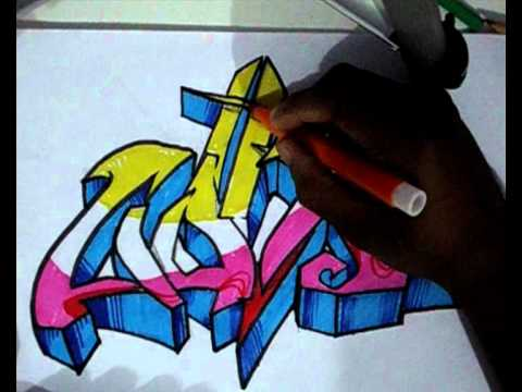 Vídeo Aula com Gene do Grafite 070 - Letra de Graffiti Parte 03