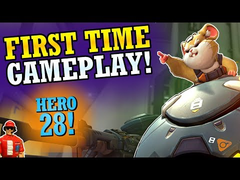 NEW HERO Wrecking Ball Gameplay & First Impressions! (New Overwatch Tank Hero!)