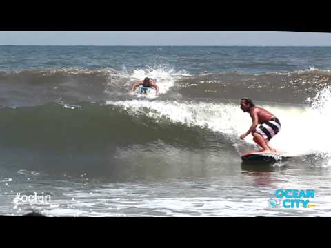 Surfing in Ocean City, Maryland with Brian Stoehr