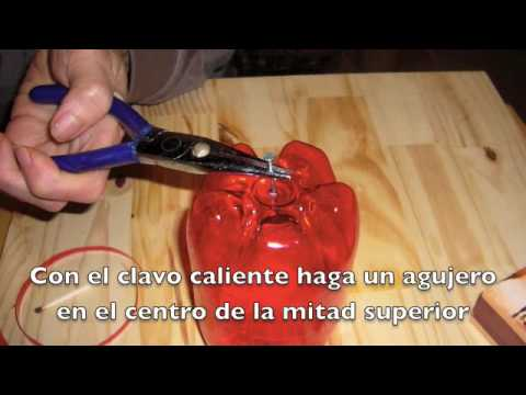 Ideas para reciclar. Manzana de Botella plstica. DIY plastic apple, recycle bottles. EcoDaisy