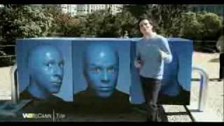 Propaganda TIM LIBERTY Wagner Moura Blue Man Group