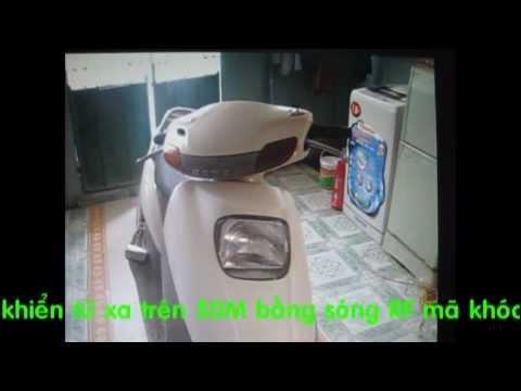 Cách lắp khóa xe trộm khóc cho xe HONDA Spacy