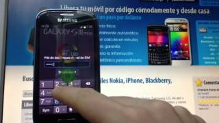 Liberar Samsung Galaxy S3 Mini I8190 Por Código, Movical