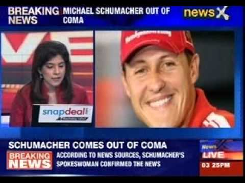 Michael Schumacher comes out of coma