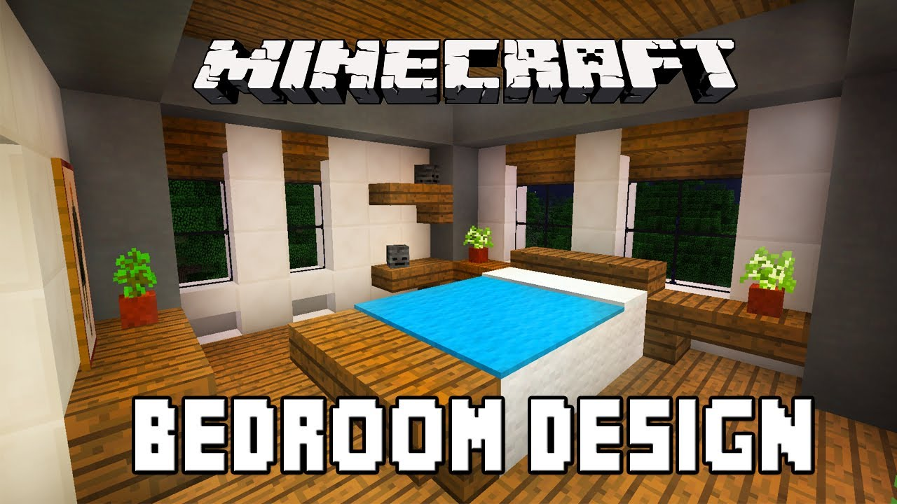 Minecraft tutorial how to build a modern house ep 6 for Bedroom ideas on minecraft