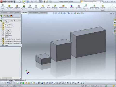 Documenting SolidWorks Part Configurations in a Drawing