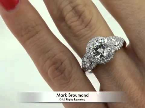 2.86ct Round Brilliant Cut Diamond Engagement Anniversary Ring-Mark Broumand, Sensational in every way! This gorgeous Round Diamond engagement ring will mesmerize you! The stunning 1.51ct Round Brilliant Cut Diamond set in the center i...