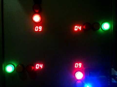 Đèn giao thông thời gian thực (8051+DS12C887)