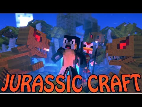 "Minecraft Dinosaurs | Jurassic Craft Modded Survival Ep 1! ""DINOSAURS TAKING OVER"""