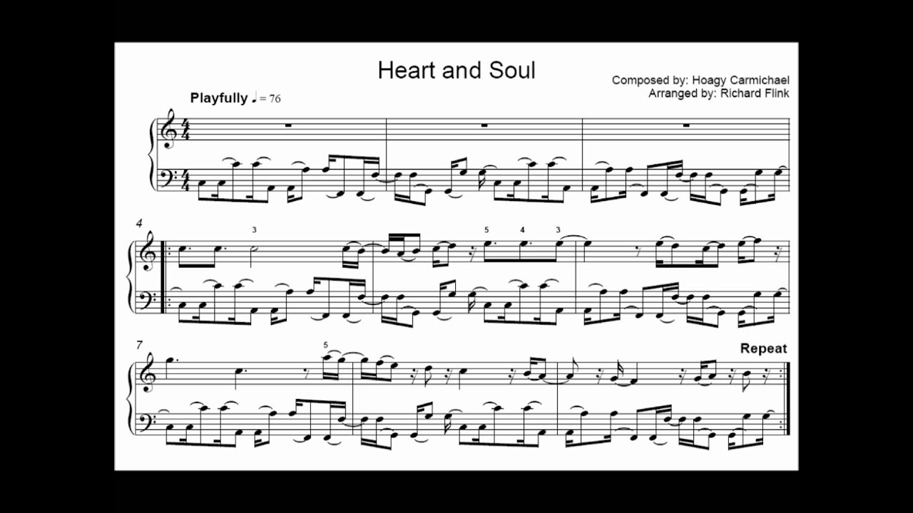 heart and soul partitura: