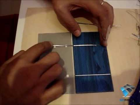 Costruire un pannello solare fotovoltaico fai da te in casa saldare celle solari diy solar panel - Costruire un case ...