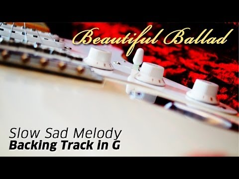 Slow Sad Melody Guitar Backing Track in G (Beautiful Ballad) | JAMTRACK.de