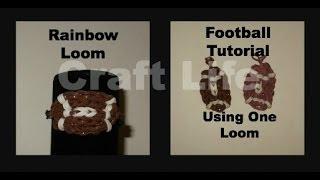 Craft Life ~ Rainbow Loom Football Charm Tutorial ~ One