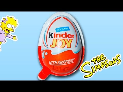 Open one Kinder Joy Egg from the Simpsons Series 2013