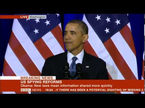 President Obama announces US Spying Reforms for Intelligence CIA Full Speech Part 1