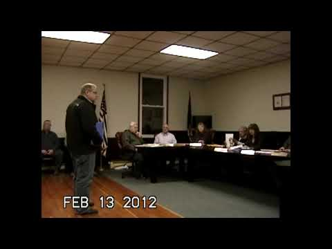 Chazy Town Board Meeting 2-13-12