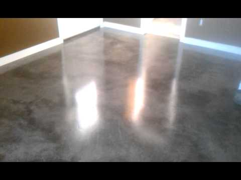 re create stained concrete floor gray youtube