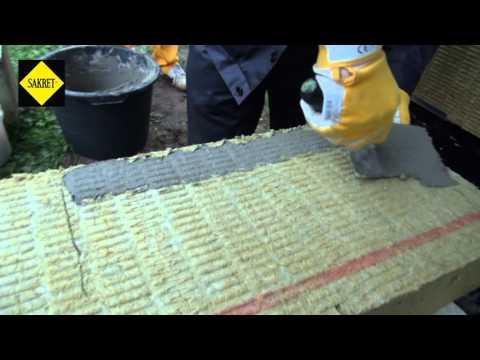 Ēku siltināšana - 3. Siltumizolācijas materiāla līmēšana ar SAKRET līmjavu BK.