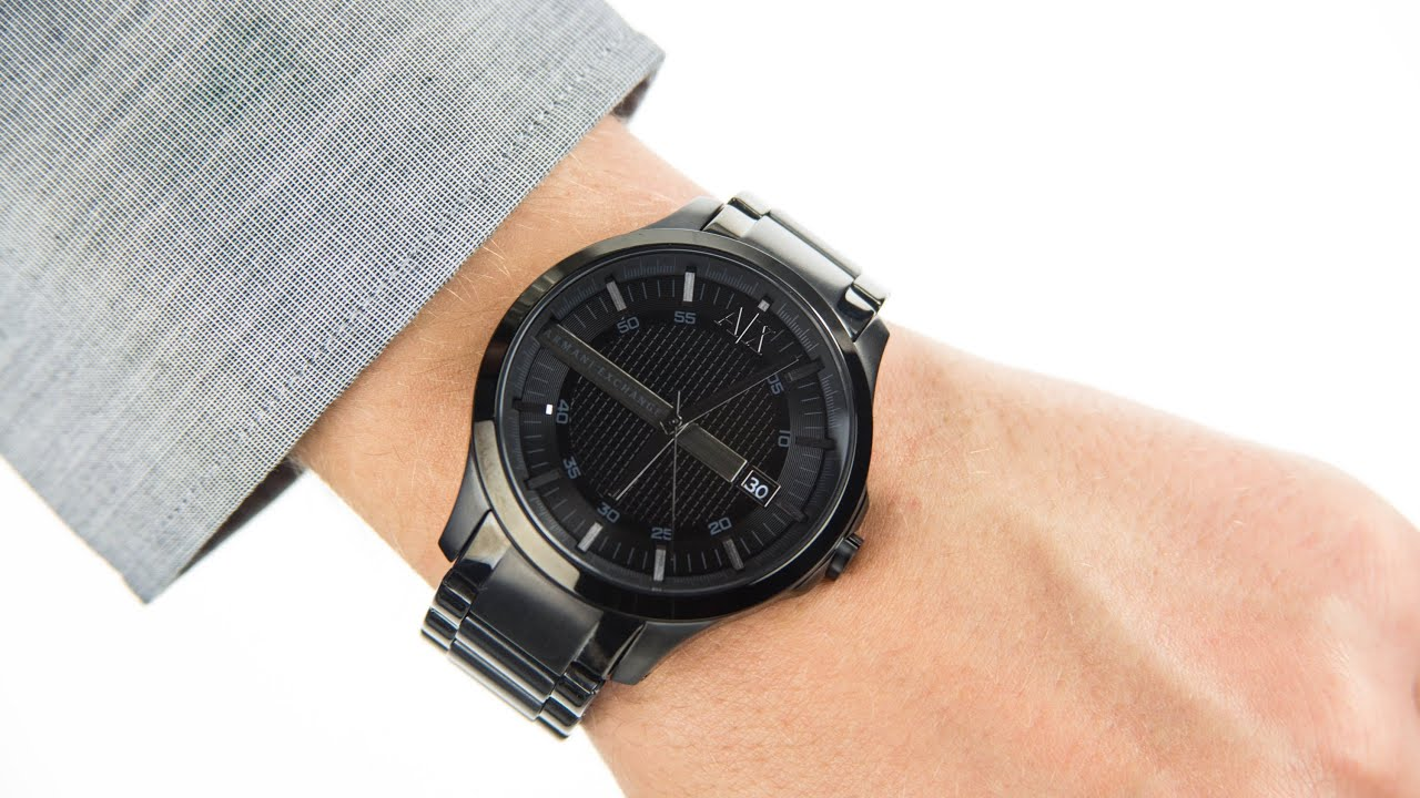 how to use armani exchange watch