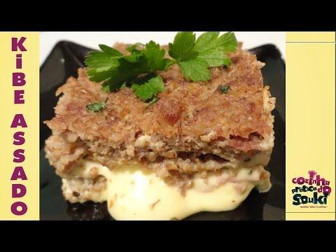 Kibe assado e recheado com queijo - Cozinha prática - Receitas fáceis e simples