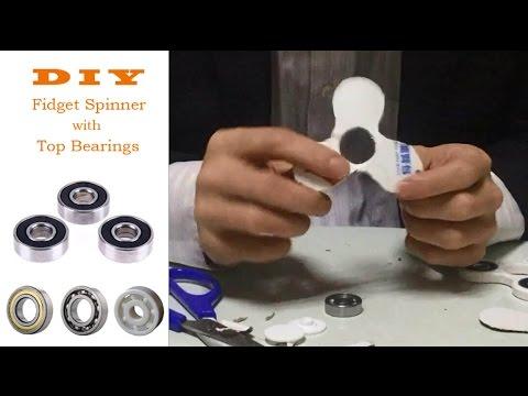DIY Fidget Hand Spinner with Best Bearings Неподвижная рука прядильщика