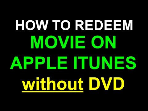 Redeem Apple iTunes code without DVD