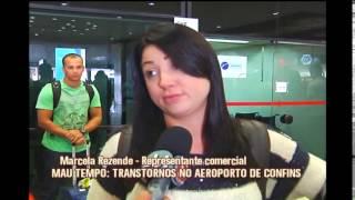 Chuva provoca transtornos no Aeroporto de Confins