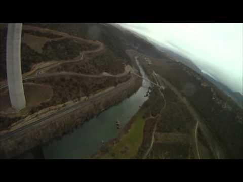 BASE Jump off the famous Millau huge bridge