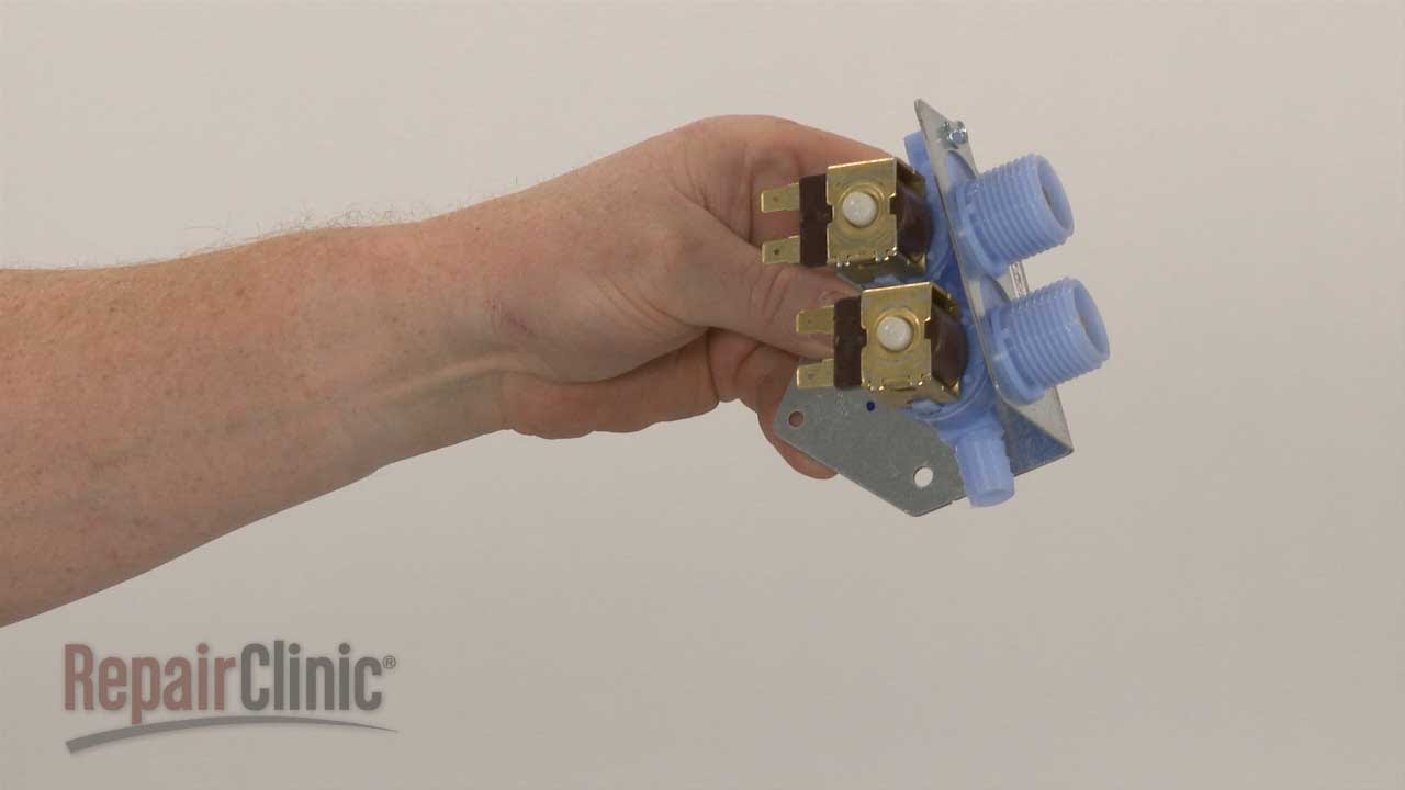 Washer water inlet valve replacement whirlpool top load washing machine repair part - Roper washing machine water inlet valve ...