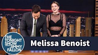 Melissa Benoist Teaches Jimmy Sport Stacking