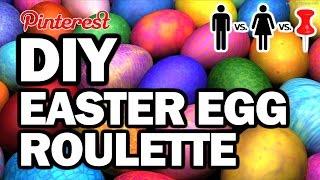DIY Easter Egg Roulette - Man Vs Corinne Vs Pin + Giveaway