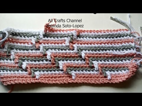 How to crochet Apache Tears pattern  for blanket (English )