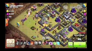 Th9 war base only getting 1 stared by a th9 gowiwipe and a th10 gowipe