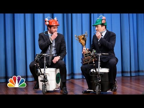 Cooler Scooter Race with Liam Hemsworth