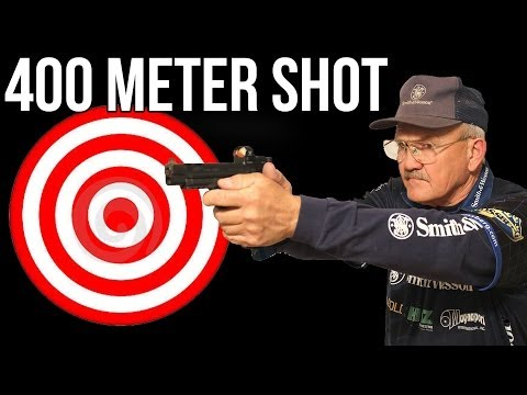 400 meter shot with an M&P 9mm pistol by champion shooter, Jerry Miculek!
