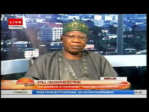 Sunrise Daily: Fayemi's Concession Shows APC Is A True Democratic Party Pt.2