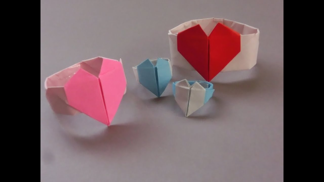 折り紙の ハートの折り紙の作り方 : 折り紙「ハートのリングの ...