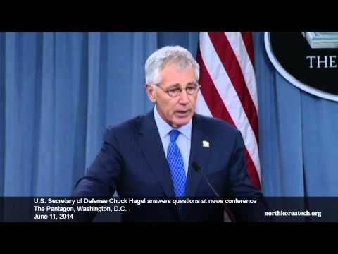 US Sec. of Defense Hagel on North Korean threat during Pentagon news conference