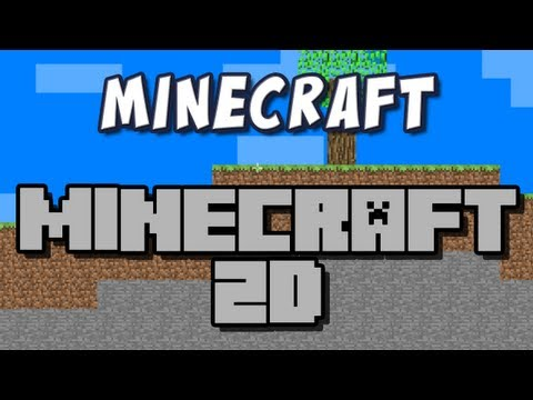 Minecraft - 2D Minecraft Mod Spotlight!, The guys take a look at a new mod for minecraft.. but things look a bit different when they log in! 2D Minecraft Download: http://www.minecraftforum.net/topi...
