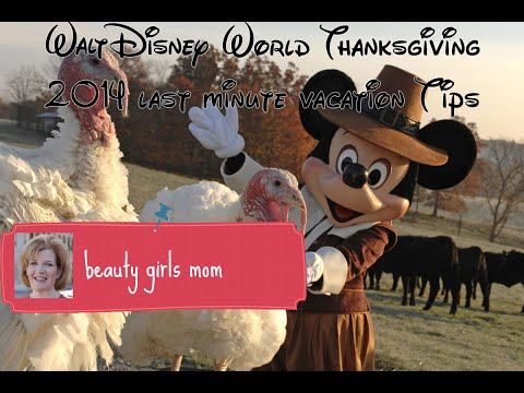 Walt Disney World Thanksgiving 2014 last minute vacation