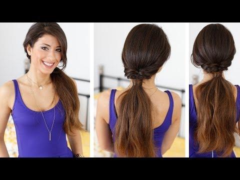 Fishtail Ponytail Hair Style - lófarok frizura